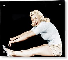Model And Columbia Starlet Marilyn Acrylic Print by Everett