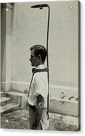Model Wears A Slave Bell Rack, A Used Acrylic Print by Everett