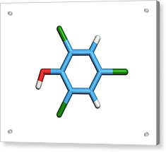 Molecule Of A Component Of Tcp Antiseptic Acrylic Print by Dr Tim Evans