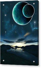 Momentary Acrylic Print by Andreas  Leonidou