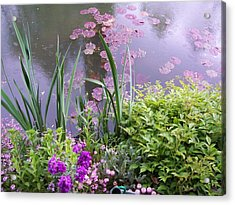 Monet Garden Giverny France Acrylic Print by Chitra Ramanathan