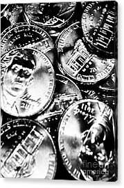 Money Acrylic Print by Ronnie Glover