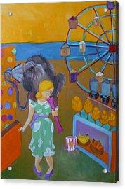 Monkey On My Back Acrylic Print by Diana Ogaard