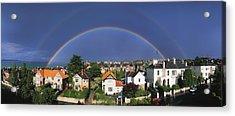Monkstown, Co Dublin, Ireland Rainbow Acrylic Print by The Irish Image Collection