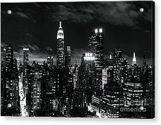 Monochrome City Acrylic Print by Andrew Paranavitana