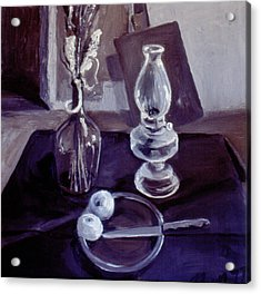 Monotone Still Life 1977 Acrylic Print by Nancy Griswold