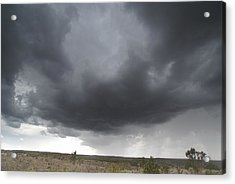 Monsoon Storm Clouds Acrylic Print by David Edwards