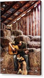 Montana Boy Acrylic Print by Shawna Mac