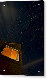 Montauk Star Trails Acrylic Print by Mike Horvath