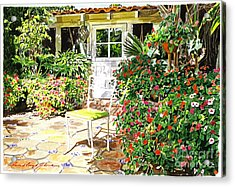 Monterey Guest House Acrylic Print by David Lloyd Glover