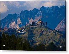 Montevecchia And Resegone Acrylic Print by Marco Busoni