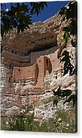 Montezuma Castle Cliff Dwellings In The Verde Valley Of Arizona Acrylic Print by Elizabeth Rose