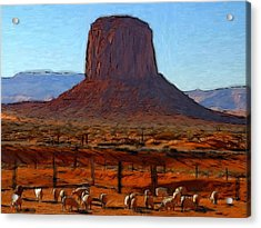 Monument Valley 2 Pastel Acrylic Print by Stefan Kuhn
