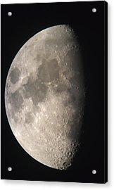 Moon Against The Black Sky Acrylic Print by John Short