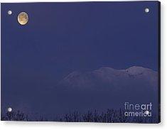Moon At Dawn Acrylic Print by Yuichi Takasaka