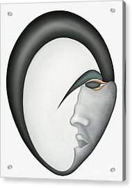 Moon Brother Acrylic Print by Joanna Pregon