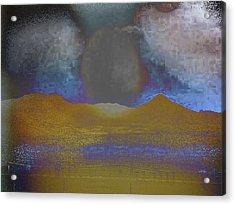 Moon Over Arizona 2 Acrylic Print by Lenore Senior and Angela L Walker