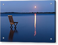 Moon View Acrylic Print by Gert Lavsen