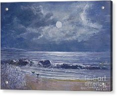 Moonglow Acrylic Print by Joan Cornish Willies