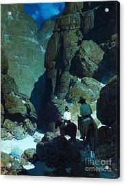 Moonlight Canyon Acrylic Print by Pg Reproductions