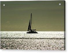 Moonlight Sail Acrylic Print by Rene Triay Photography