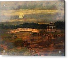 Moonlight Stroll Acrylic Print by Kathy Jennings