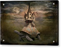 Moonlight Traveler Acrylic Print by Marie  Gale