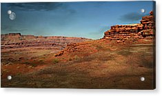 Moonrise On The Mesa Acrylic Print by Marty Koch