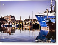 Moored Up Acrylic Print by Chris Cardwell