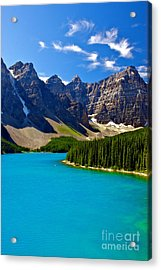 Moraine Lake Acrylic Print by James Steinberg and Photo Researchers