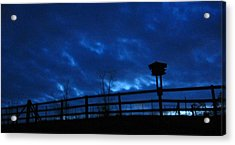 Morning Blues Acrylic Print by Deb Martin-Webster