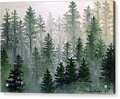 Morning In The Mountains Acrylic Print by Shana Rowe Jackson