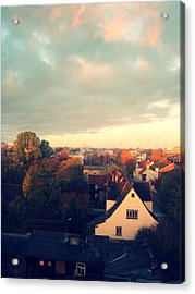 Morning In The Town Acrylic Print by German Savchishen