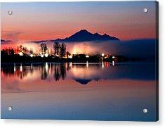 Morning Light And Fog Acrylic Print by Detlef Klahm