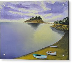 Morning Sea Acrylic Print by Larry Cirigliano