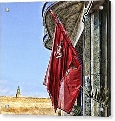 Morocco Flag I Acrylic Print by Chuck Kuhn