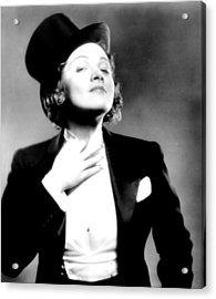 Morocco, Marlene Dietrich, 1930 Acrylic Print by Everett