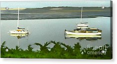Morro Bay Sail Boats Acrylic Print by Gregory Dyer