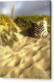 Morro Bay Tiki Head Acrylic Print by Gregory Dyer