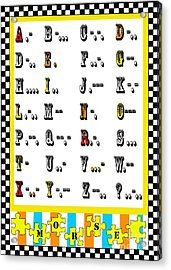 Morse Code Alphabet Juvenile Licensing Acrylic Print by Anahi DeCanio