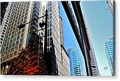 Mostly Reflections In Sydney Acrylic Print by Kirsten Giving