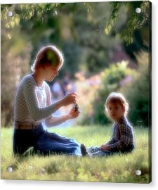 Mother And Kid Acrylic Print by Juan Carlos Ferro Duque