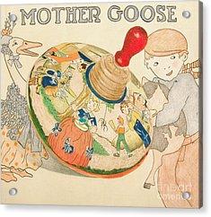 Mother Goose Spinning Top Acrylic Print by Glenda Zuckerman