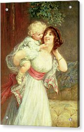 Mothers Darling Acrylic Print by Frederick Morgan