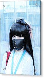 Motorbike Girly Mask Acrylic Print by Viktor Savchenko