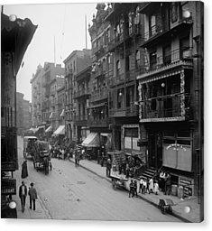Mott Street In New York Citys Chinatown Acrylic Print by Everett