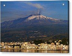 Mount Etna Acrylic Print by David Smith