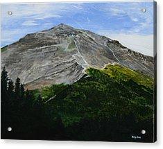 Mount Marathon  Acrylic Print by Betty-Anne McDonald