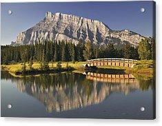 Mount Rundle And Cascade Ponds, Banff Acrylic Print by Darwin Wiggett
