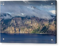 Mount Scott Cloud Shroud Acrylic Print by Greg Nyquist